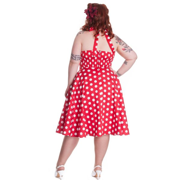Hell Bunny Kleid red Mariam plus