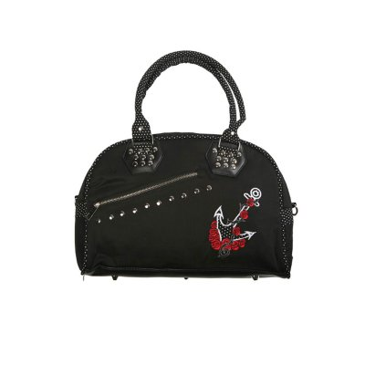 BN-Bag-blk/red-Anchor Roses