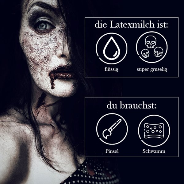 Latexmilch Weiß Kunsthaut 100ml King Of Halloween Wunden Narben