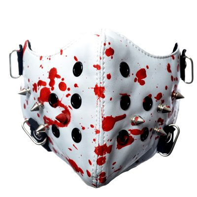 PI-Mask-wht/blood-Spike