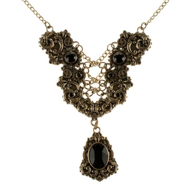 AZ-KETTE-BRN-DIAMONDS STEAMPUNK