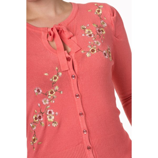 Banned Last Dance Cardigan Coral