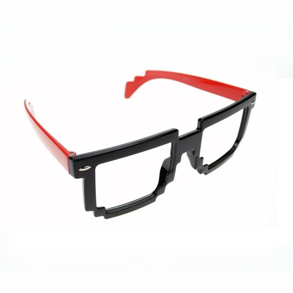PI-BRILLE-RED/BLK-8 BIT SHADE