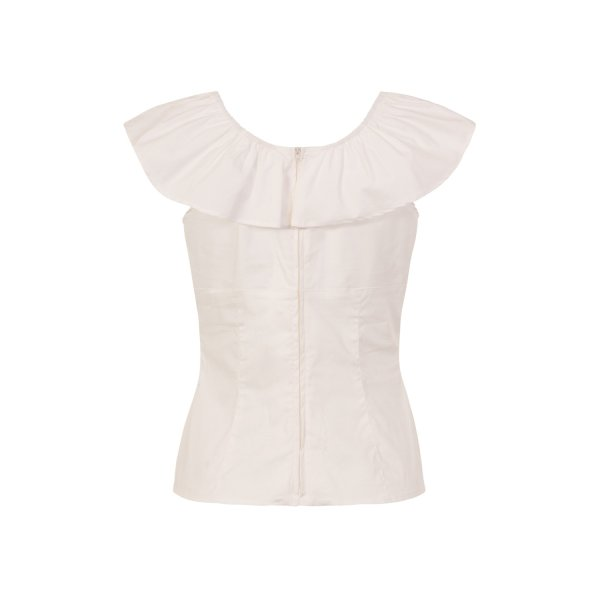 Hell Bunny Rio Top Ivory
