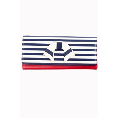 BN-WALLET-NAVY/WHT/RED-VINTAGE NAUTICAL
