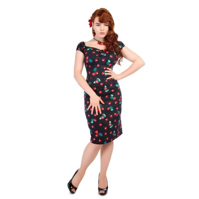 Collectif Dolores Pencil 50s Cherry Kleid