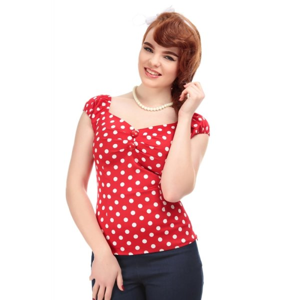 Collectif Dolores Polka Top Rot
