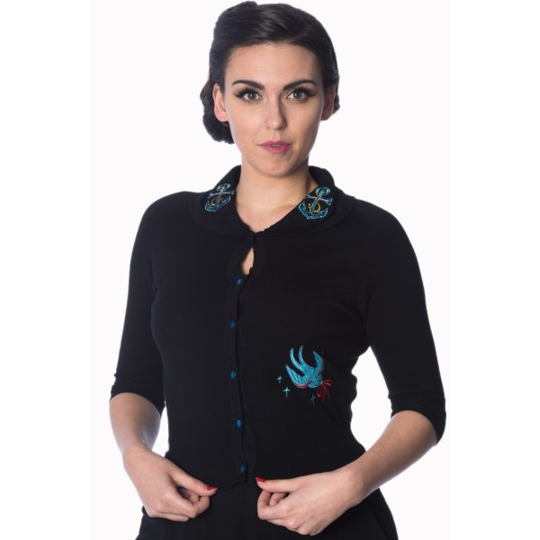 Banned Free As A Bird Cardigan Schwarz