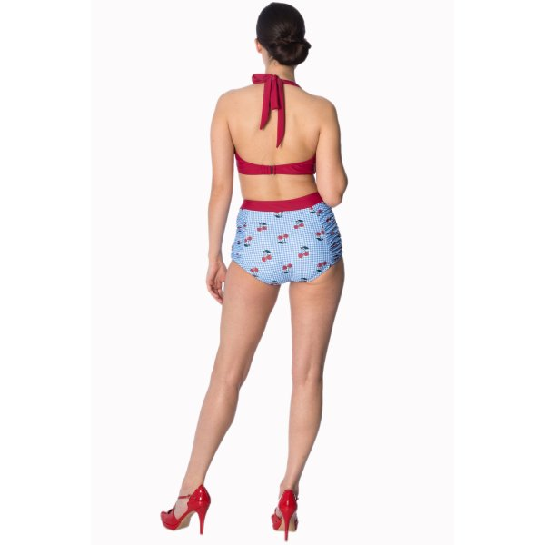 Banned Cherry Love Bikini Top Blau