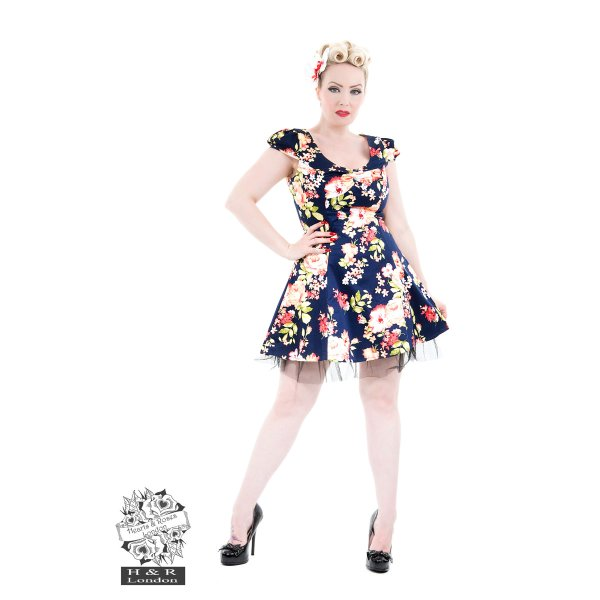 Hearts and Roses Jennifer Floral Mini Kleid