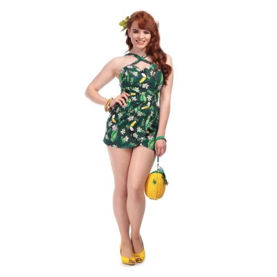 Collectif Mahina Tropical Bird Playsuit L