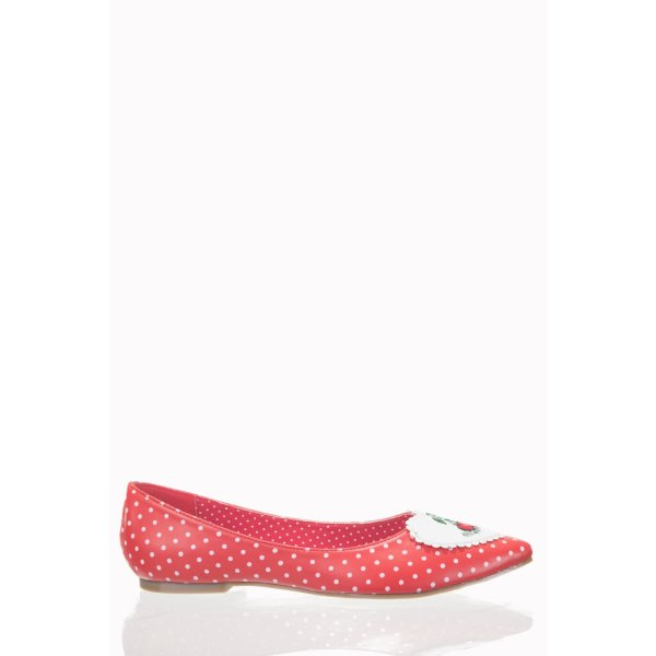 BN-SCHUH-RED/DOTS-EVERLY