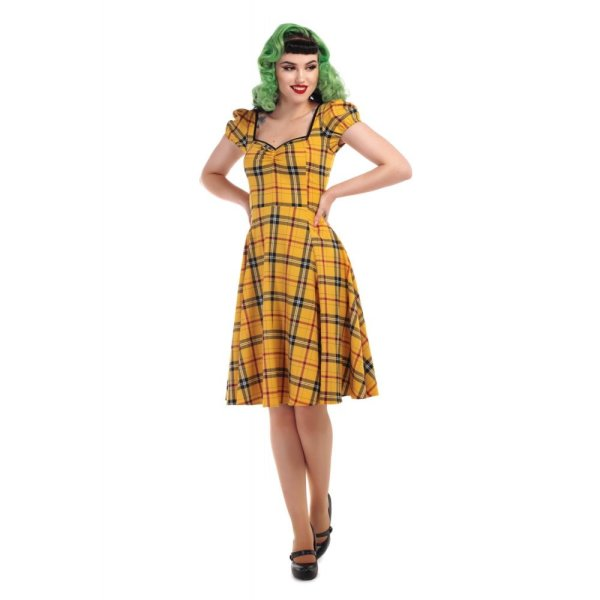 Kleid  Mimi Clueless Check Doll gelb