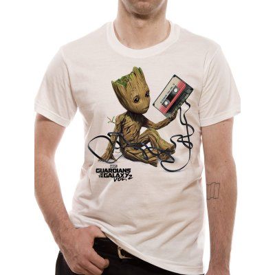 Guardians of the Galaxy Vol.2 Shirt  Groot and Tape weiß