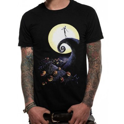 Nightmare before Christmas Shirt  Cemetery schwarz