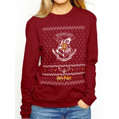 Harry Potter Pullover  Xmas Crest rot