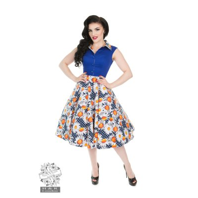 Sunflower Daisy Swing Dress blau/weiß