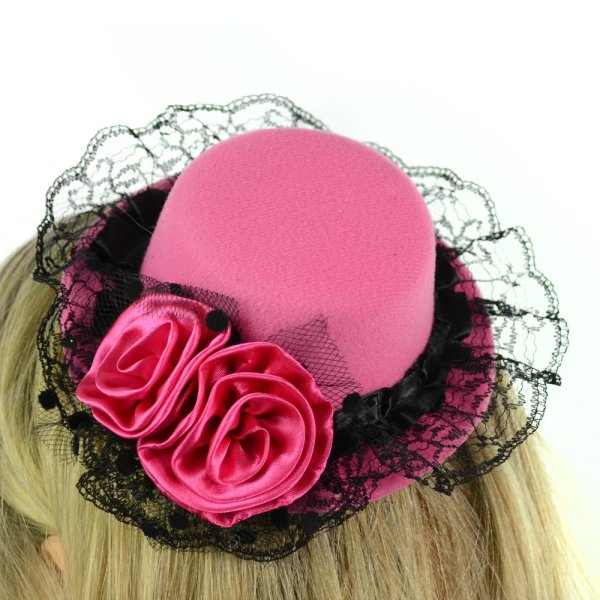 Lisa Fascinator-Hütchen pink