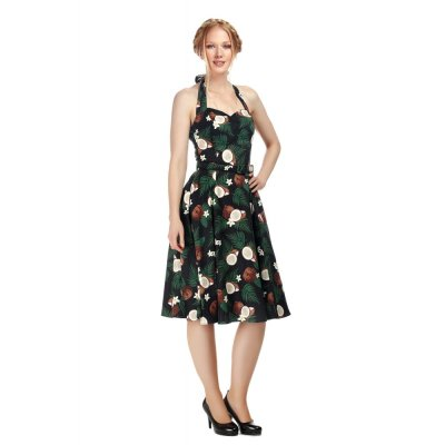 Beth Coconut Swingdress  Schwarz Bunt