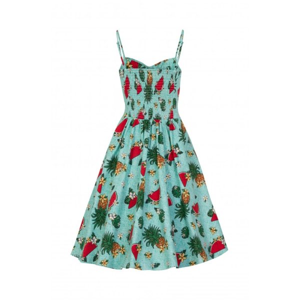 Fairy Tropical Fruit Doll Dress  Tourquoise