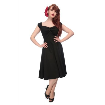 Dolores Doll Kleid Classic Cotton  schwarz