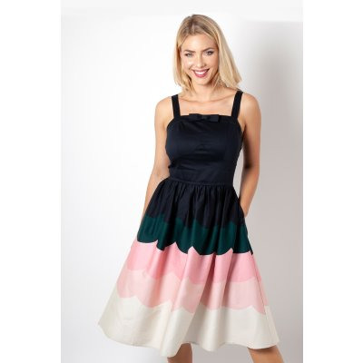 Sally Scallop Border Kleid  Bunt
