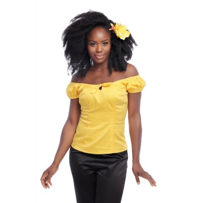 Collectif Lorena Plain Top  gelb