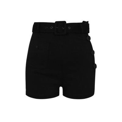 Collectif Gertrude Plain Shorts  schwarz