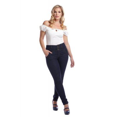 Collectif Stretch-Jeans  Rebel Kate navy