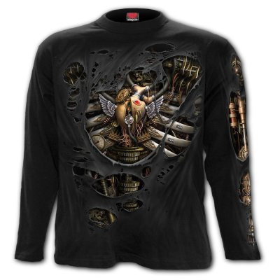 Spiral Sweatshirt  Steam Punk Ripped