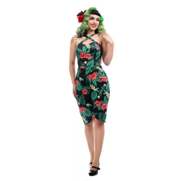 Collectif Sarong-Stiftkleid  Mahina tropical paradise