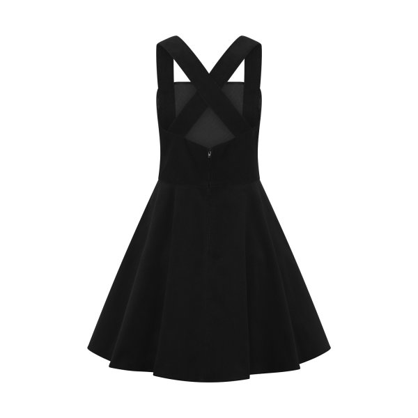 Kordkleid wonder years pinafore  schwarz