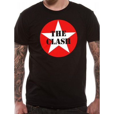 The Clash Shirt  Star Badge schwarz