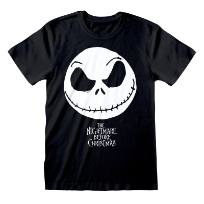 Nightmare before Christmas Shirt  Jack Face schwarz