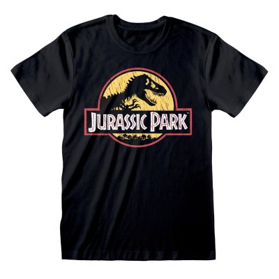 Jurassic Park Shirt  Original Logo distressed