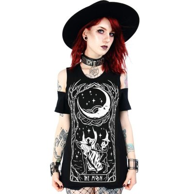 Restyle schulterfreies Shirt Witches Chant