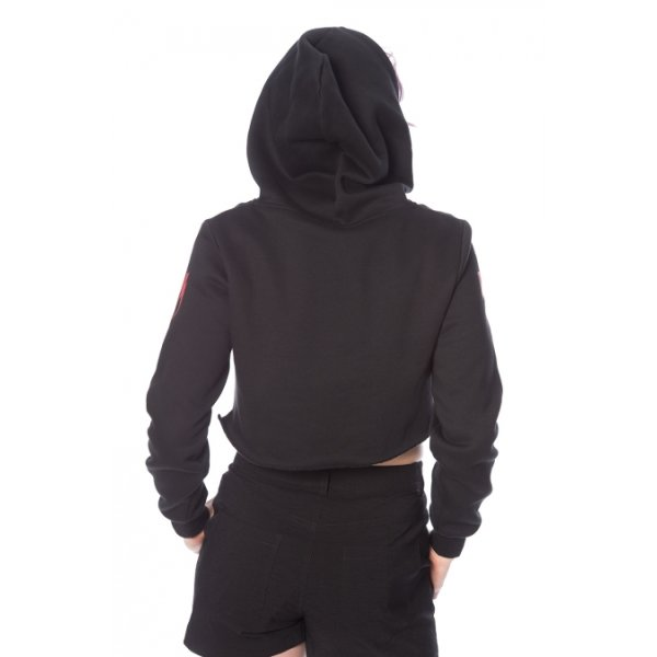 Banned Thunderbolt Hoodie schwarz rot