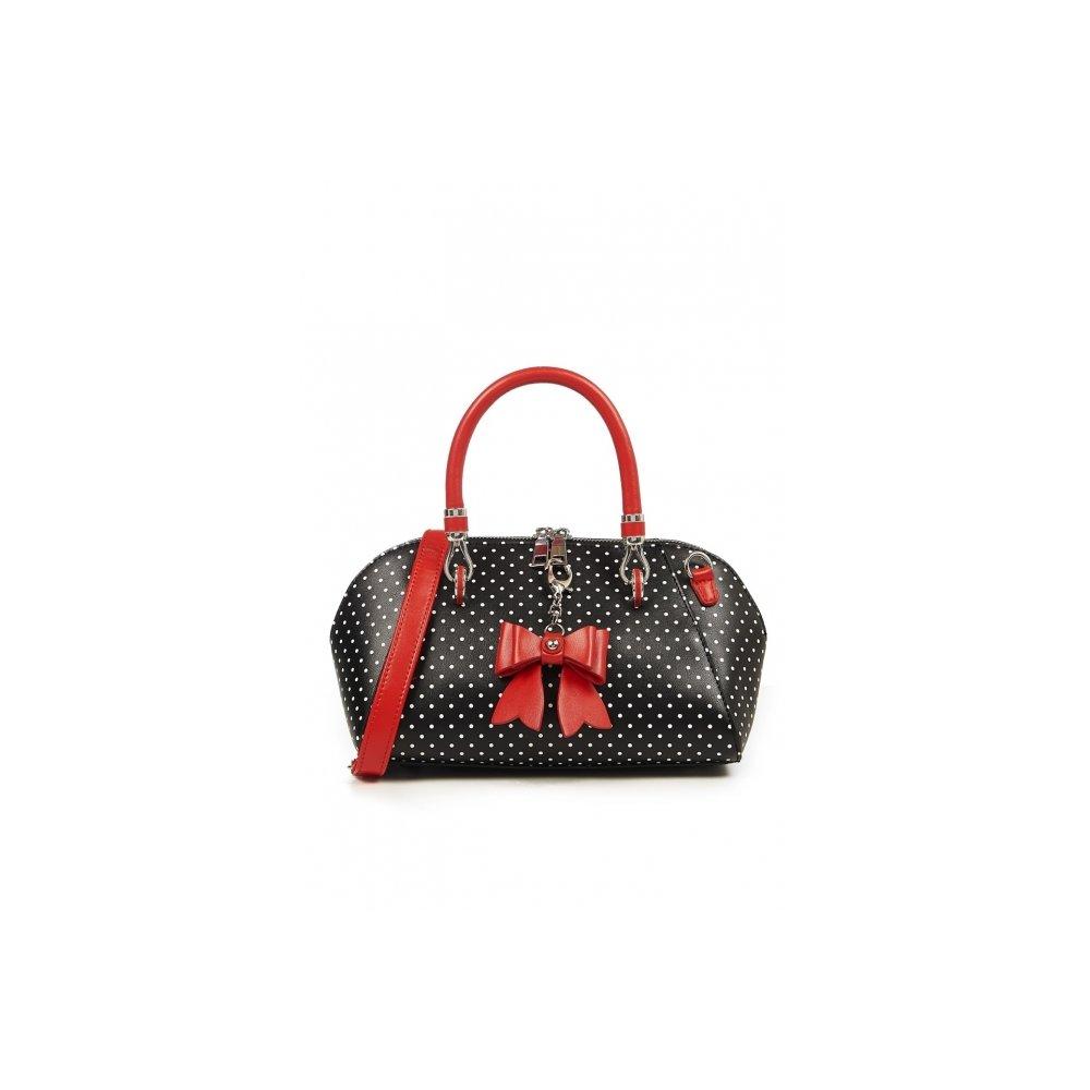 Banned Handtasche Lady Layla Rose schwarz rot