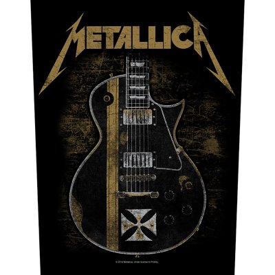 Metallica Backpatch Hetfield Guitar schwarz gold