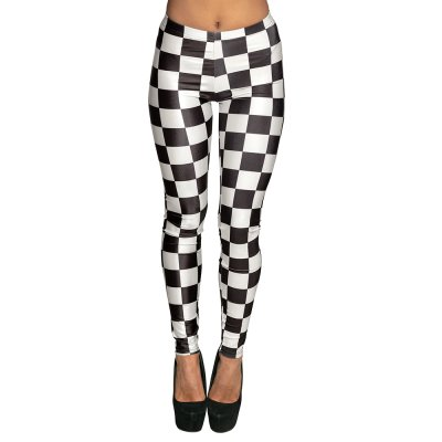 Boland Leggings Racing Stretch Karo One Size