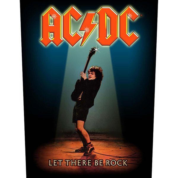 AC/DC Backpatch let there be rock bunt