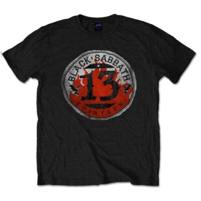 Black Sabbath Shirt 13 Flame Circle