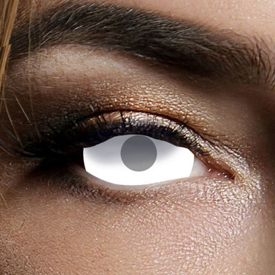 Kontaktlinse Sclera Blind White visibal 6 Monate