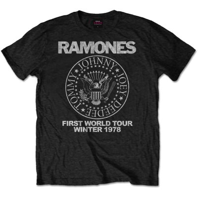 Ramones Shirt First World Tour 1978