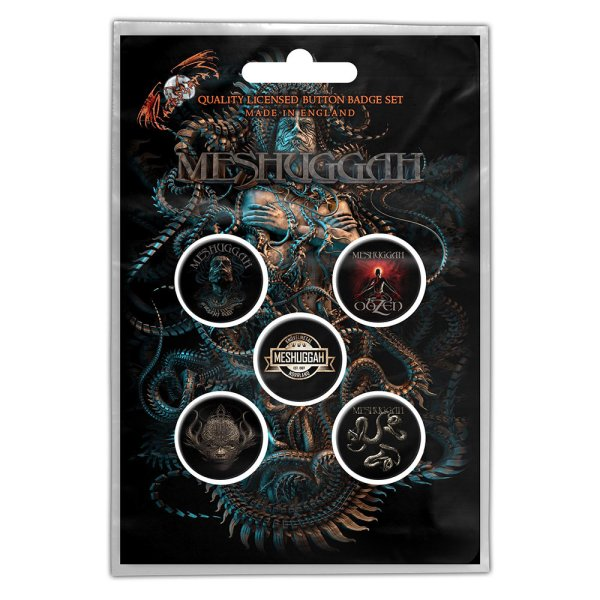 Meshuggah Button-Set violent sleep of reason 5Stk.