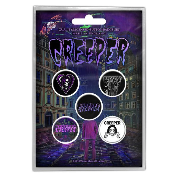 Creeper Button-Set eternity in your arms 5Stk.
