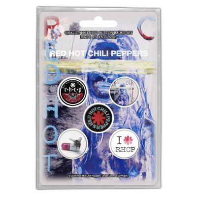 Red hot chili peppers Button-Set by the way 5Stk.