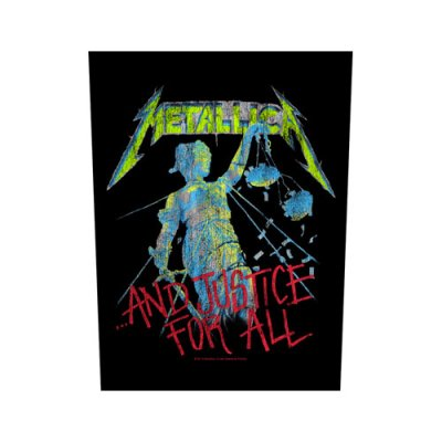 Metallica Backpatch ...and justice for all schwarz bunt