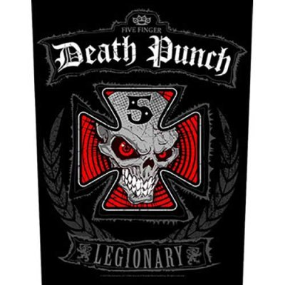 Five finger death punch Backpatch legionary schwarz rot