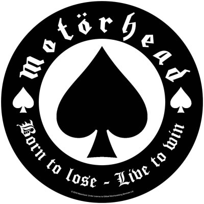 Motörhead runder Backpatch Born to lose schwarz weiß